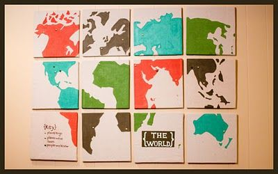 interactive world map #map #travel  #wall #canvas #paint