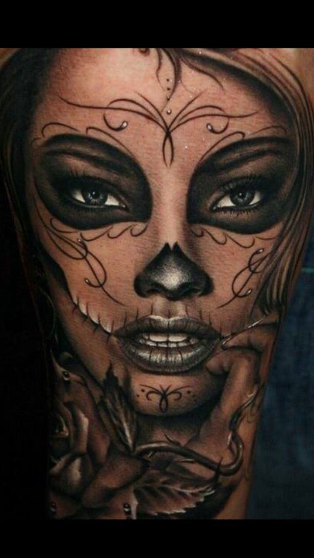 R sultat de recherche d 39 images pour la catrina tattoo for Arm mural tattoos