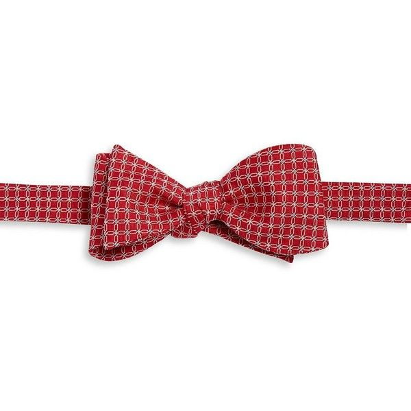 Brooks Brothers Link Patterned Bow Tie (2,755 DOP) ❤ liked on Polyvore featuring men's fashion, men's accessories, men's neckwear, bow ties and red