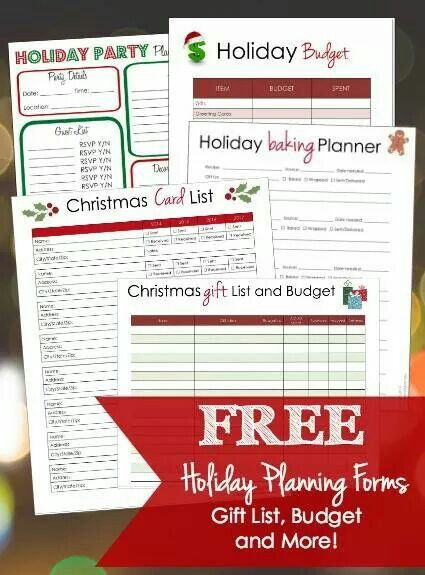 Christmas planner | Christmas | Pinterest | Planners, Holidays and ...