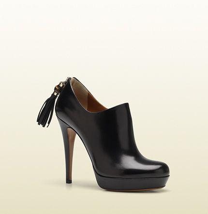'betty' high heel platform bootie with tassel and b ...