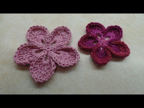 Crochet How To Crochet Easy 5 Petal Flower Tutorial 315 Youtube