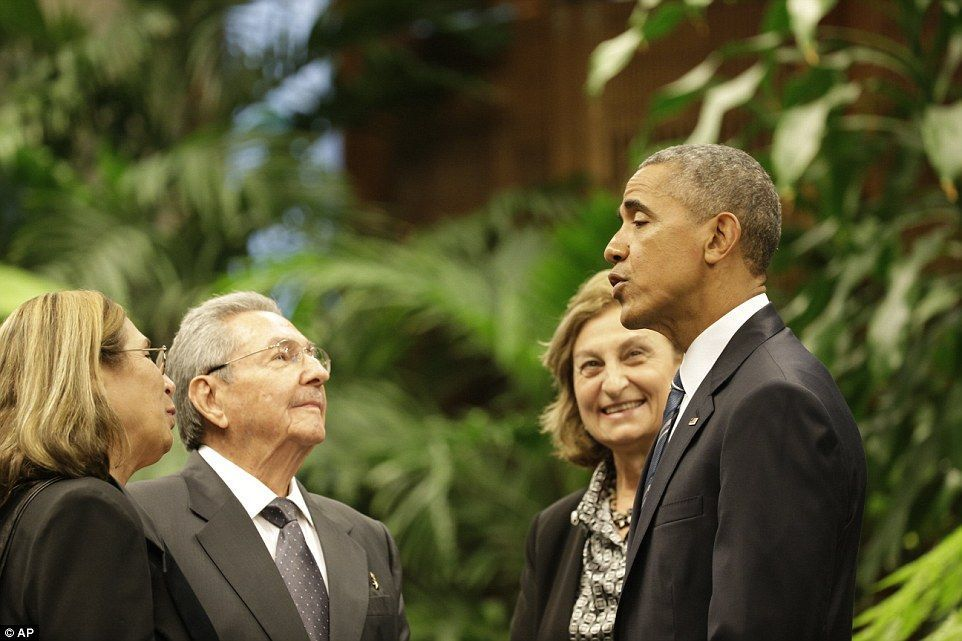Castro lectures Obama on America's human rights failures and denies Cuba has political prisoners #cubanleader Cordial: The Cuban leader and the U.S. president spoke through translators. Castro and the president were holding two hours of talks #cubanleader Castro lectures Obama on America's human rights failures and denies Cuba has political prisoners #cubanleader Cordial: The Cuban leader and the U.S. president spoke through translators. Castro and the president were holding two hours of talks #cubanleader