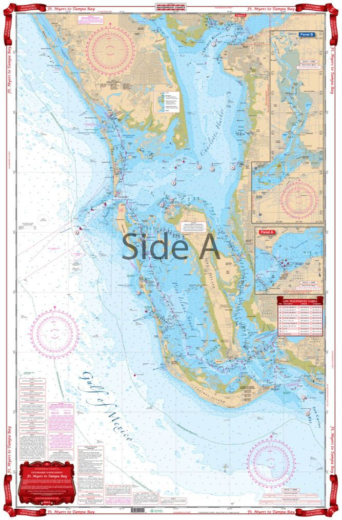 Map Of Fort Myers Beach Florida.With This Navigation Chart Marine Map You Can Head From Fort