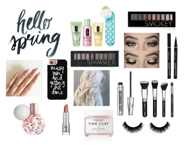 """""""hello spring 2016"""" by ekarnes ❤ liked on Polyvore featuring beauty, Forever 21, Clinique, Herbivore, Bare Escentuals and Casetify"""