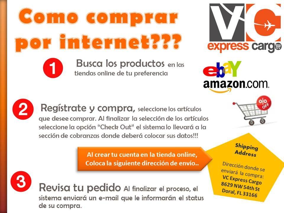 como comprar en internet??