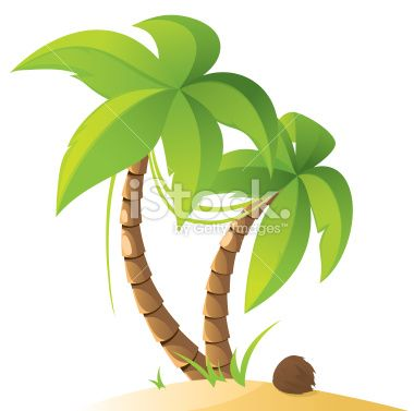 Two palm trees with coconut inspiration pinterest - Palmier dessin ...