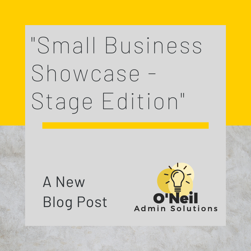 The final of my Small Business Showcase  The Stage