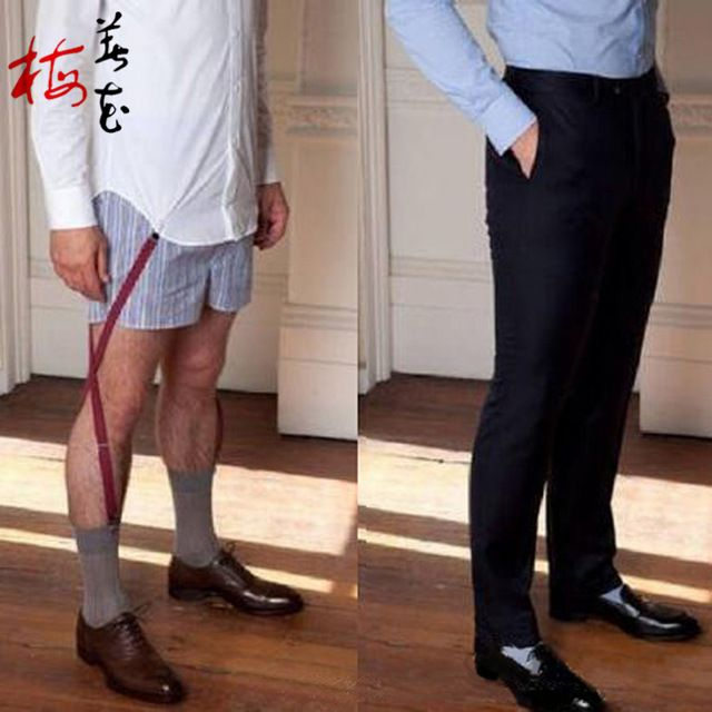9e492f3f9c0 Mens Shirt Stays Garters Elastic Nylon Adjustable Shirt Holders Crease- Resistance Belt Stirrup Style Suspenders