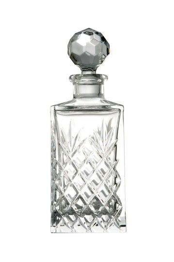 Everyone needs a decanter in their home. Especially a crystal one like this. Gorgeous .