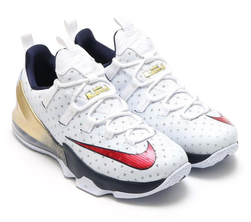Nike Lebron James Olympic Edition White Blue Shoes