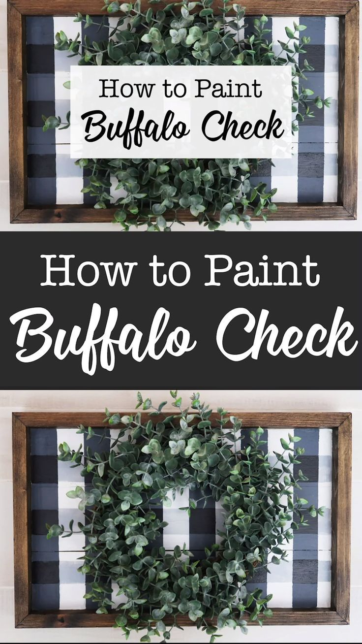 How to paint buffalo check plaid