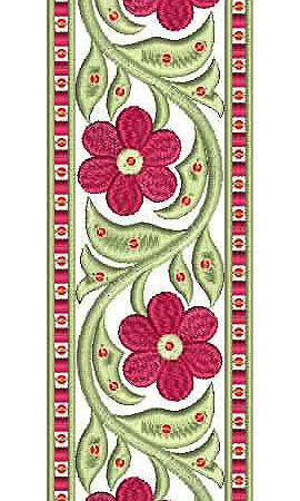 Designer Saree Border Embroidery Design Embroidery Pinterest