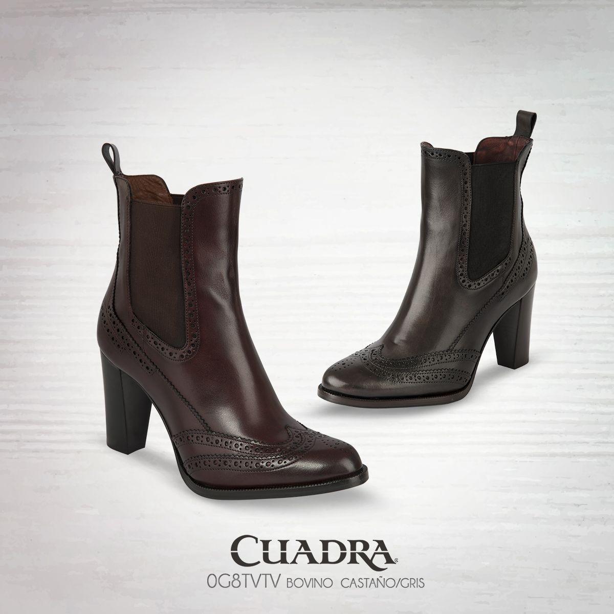 246faf17 Un moderno diseño con estilo clásico. #boots#leather#botines #dama#2016#2017#moda#fashion#streetstyle