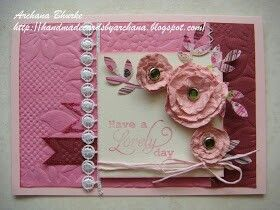 Handmade Waste Material Card I Luvd It Paper Craft