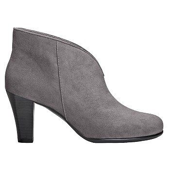 Women's A2 by Aerosoles Gold Role Bootie Grey Fabric Shoes.com
