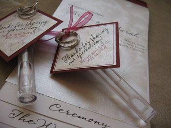 Wedding Favors Programs