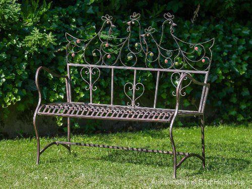 englische gartenbank eisen nostalgische metall gartenbank in 2018 pinterest. Black Bedroom Furniture Sets. Home Design Ideas