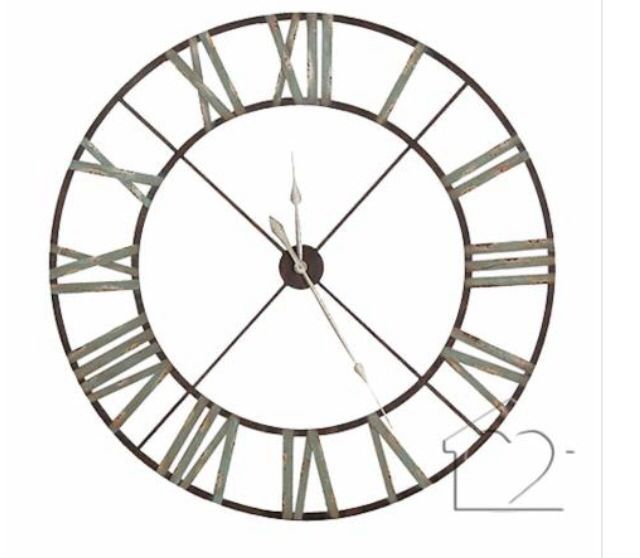 Massive Wall Clock 120cm Extra Large Wall Clock Blue Wall Clocks Skeleton Clock