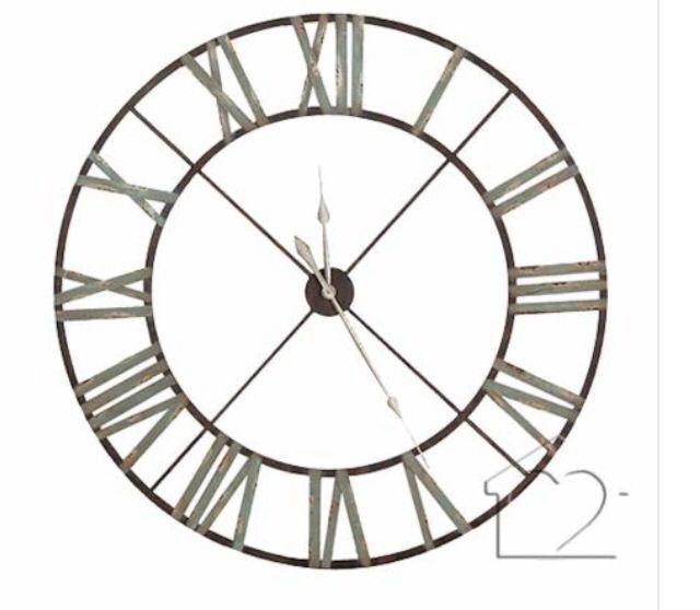 Massive Wall Clock 120cm Extra Large Wall Clock Blue Wall Clocks Skeleton Clock