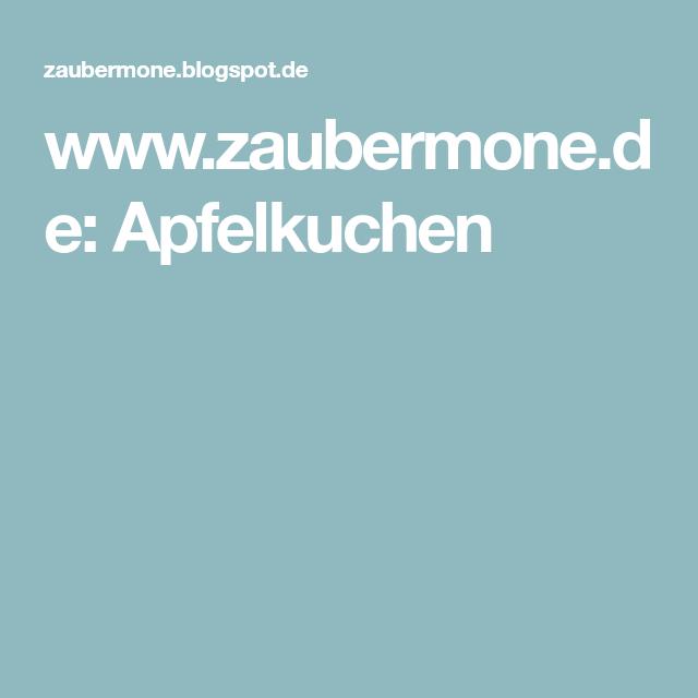 www.zaubermone.de: Apfelkuchen