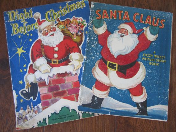 Vintage Oversized Christmas Books by Whitman 1947 by myfancies