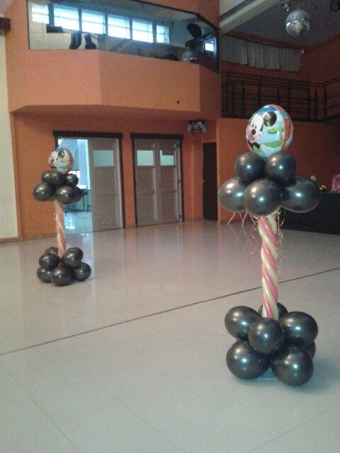 Arreglo con globos mickey