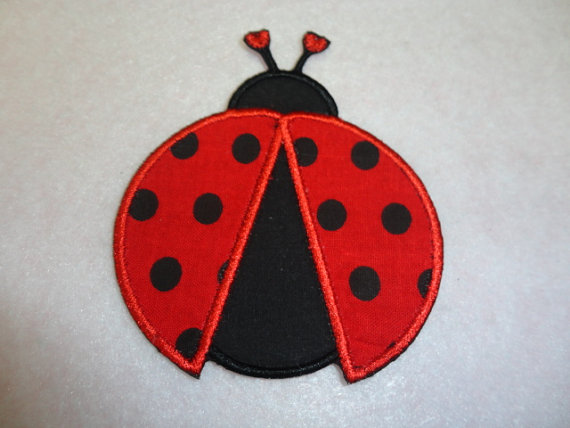 Ladybug Lady Bug Insect Embroidery Patches Red Black