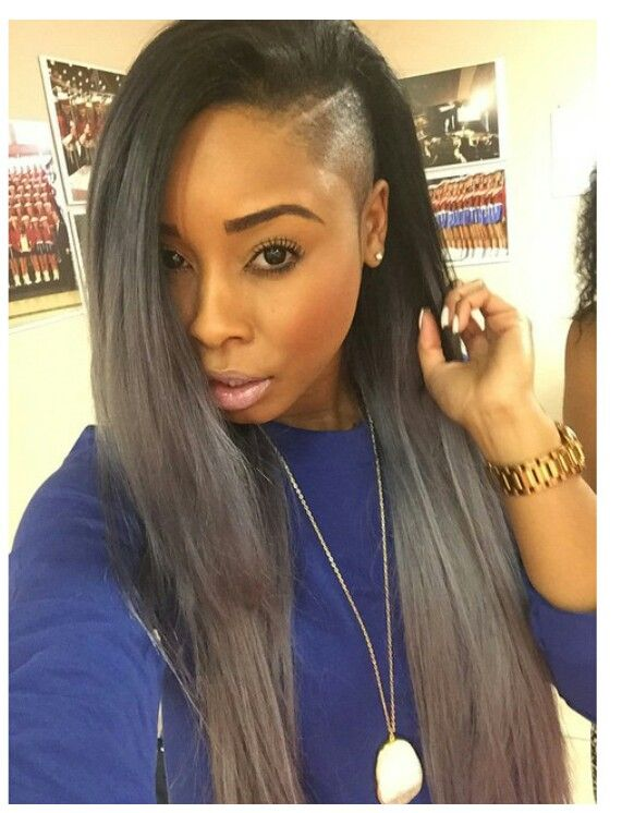 This Can Be Your Next Hairdo Not Styled By Us But Visit Our Online Store For Virgin Hair Options Www Hairs Shaved Side Hairstyles Half Shaved Hair Hair Styles