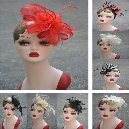 #Women chic feather headpiece fascinator hat headband dress #wedding #party churc,  View more on the LINK: 	http://www.zeppy.io/product/gb/2/291786317873/
