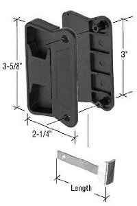 Sliding Screen Door Latch And Pull Black 3 Screw Holes For