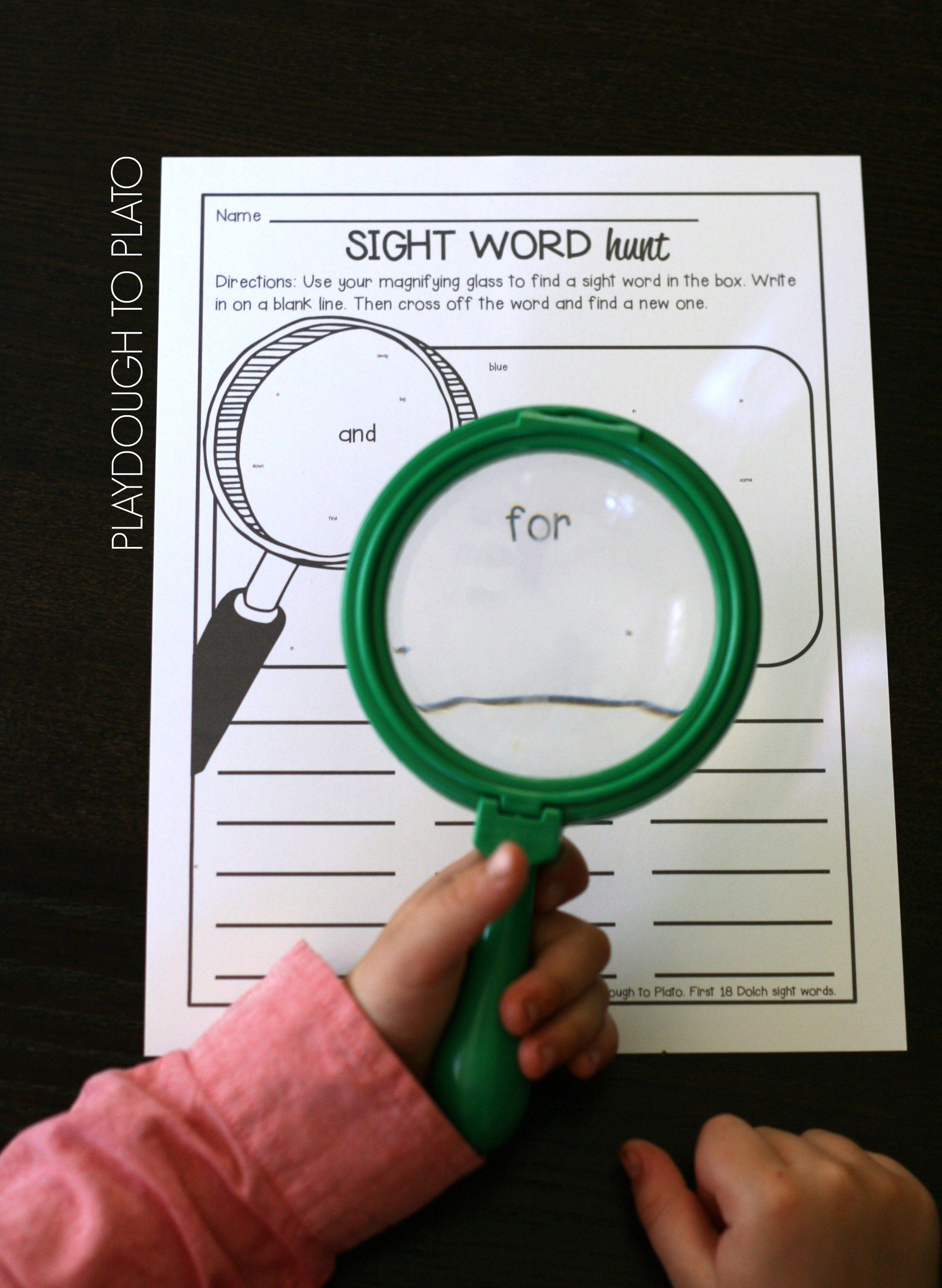 Sight Word Hunts Free Printable Pack