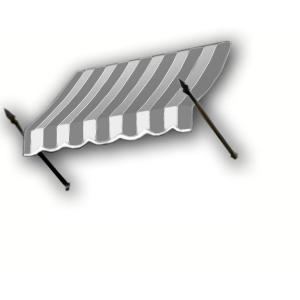 3 Ft New Orleans Awning 44 In H X 24 In D In Gray Cream Black Stripe No32 3gck At The Home Depot Awning Door Awnings Awning Accessories