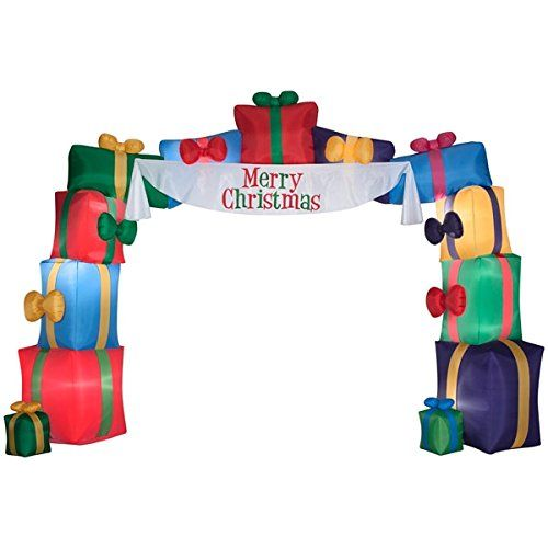 Inflatable Christmas present lighted archway - makes for a stunning - inflatable outdoor christmas decorations