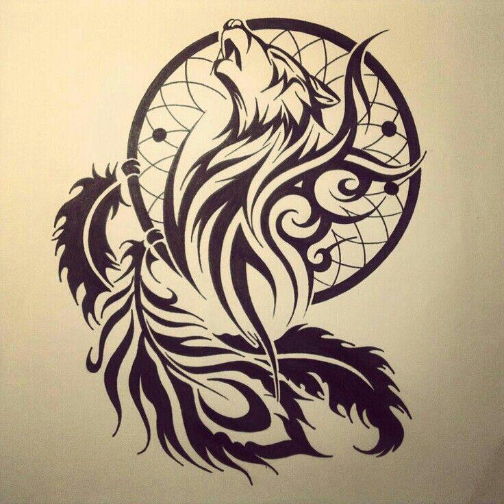 Pin di stefania su tatuaggio lupo pinterest tatuaggio for Acchiappasogni disegno