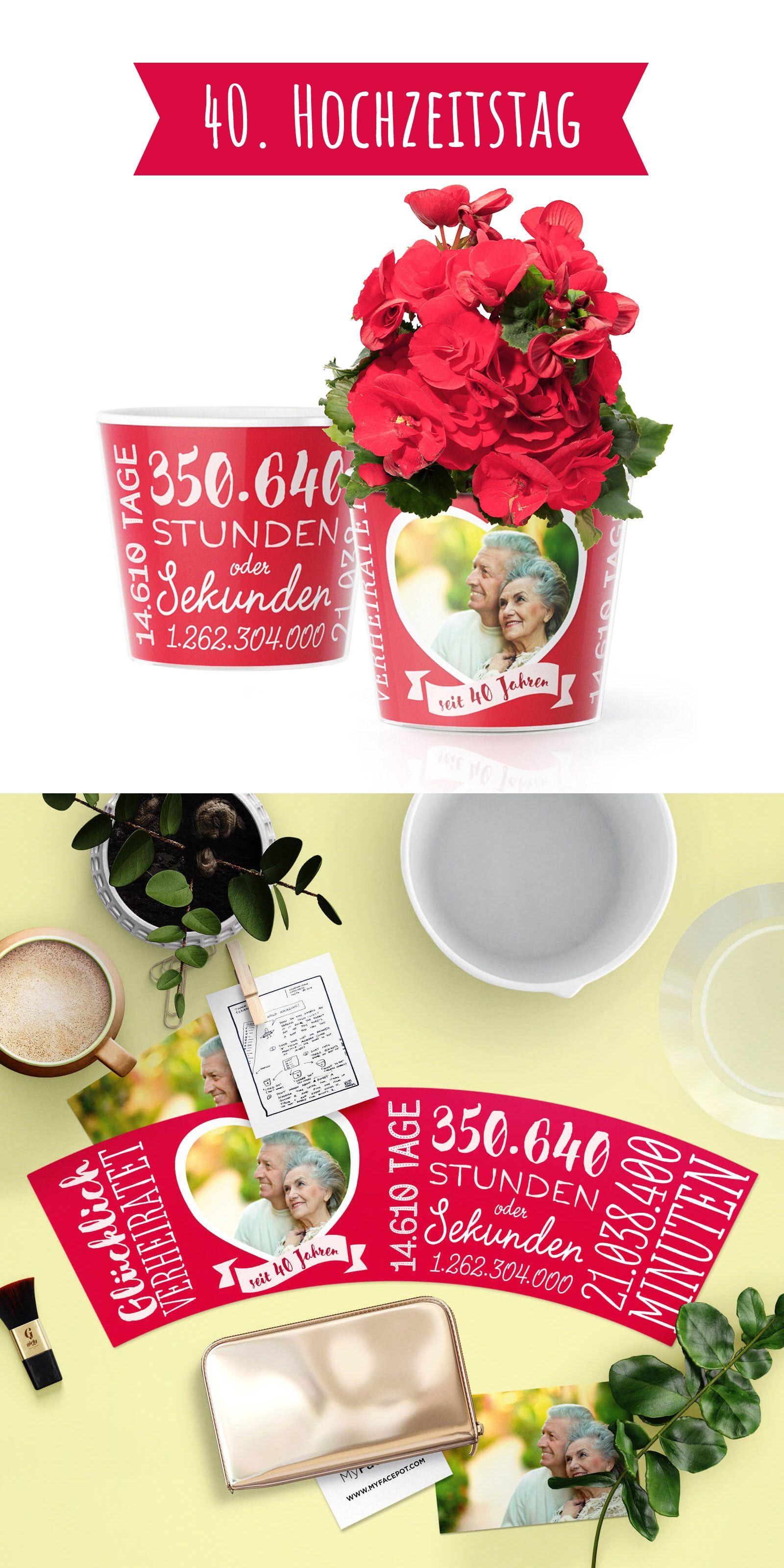 40 Hochzeitstag Rubin Hochzeit Romantisches Geschenk Zum