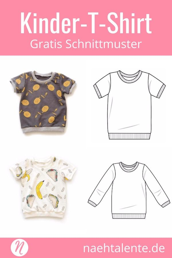 T-Shirt Lang- und Kurzarm für Kinder | Babies, Sew baby and Sewing ...
