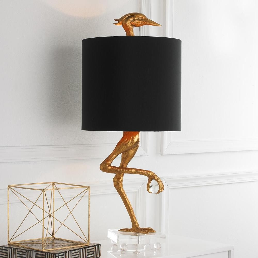 Rare New Ostrich Sculpture Table Lamp Heron Crane Bird Living Room Bedroom Light Contemporary Modern Traditional Tr Table Lamp Design Lamp Wood Lamp Design