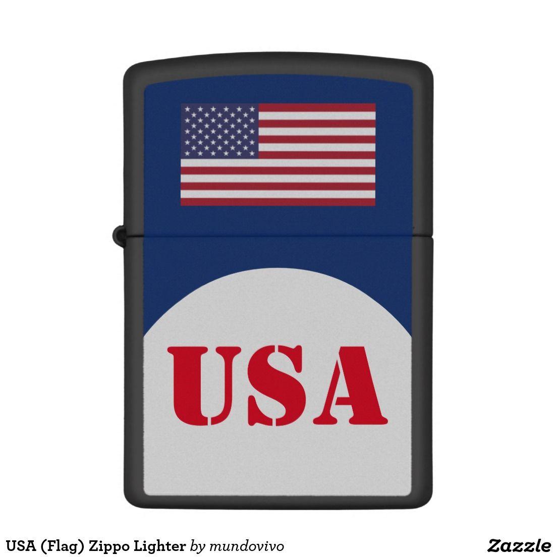 Usa Flag Zippo Lighter Zazzle Com Zippo Lighter Zippo Stencil Font