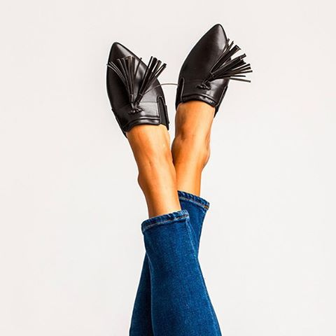 We've added a little something extra to your favorite basic, just in time for holiday celebrations. Shop the Mule Slide with Tassels online and in stores!