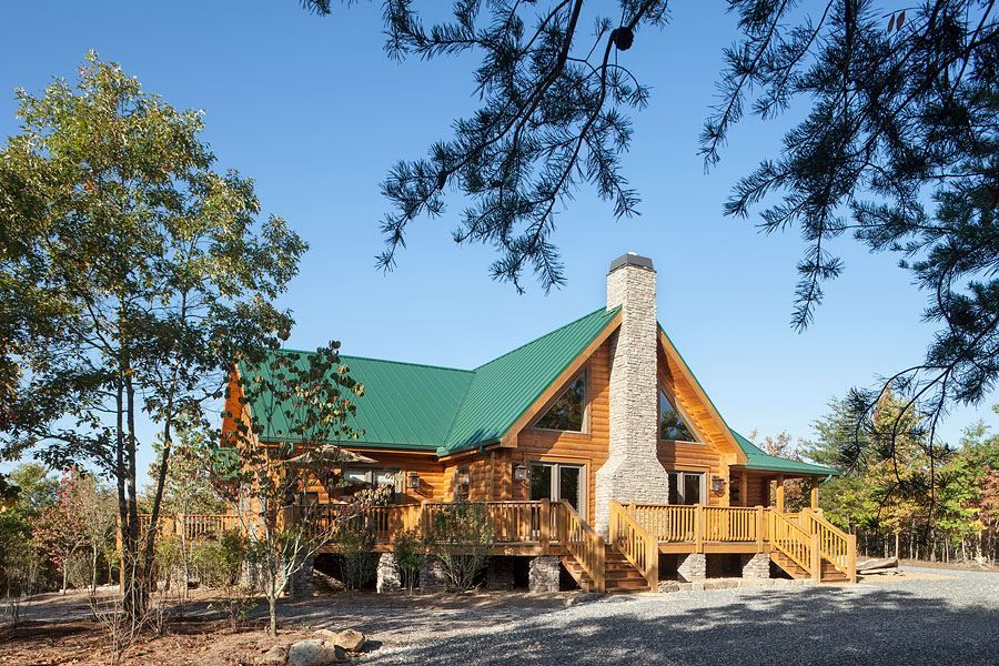 Red River 2 Photos Log homes, Log home plans, Log cabin