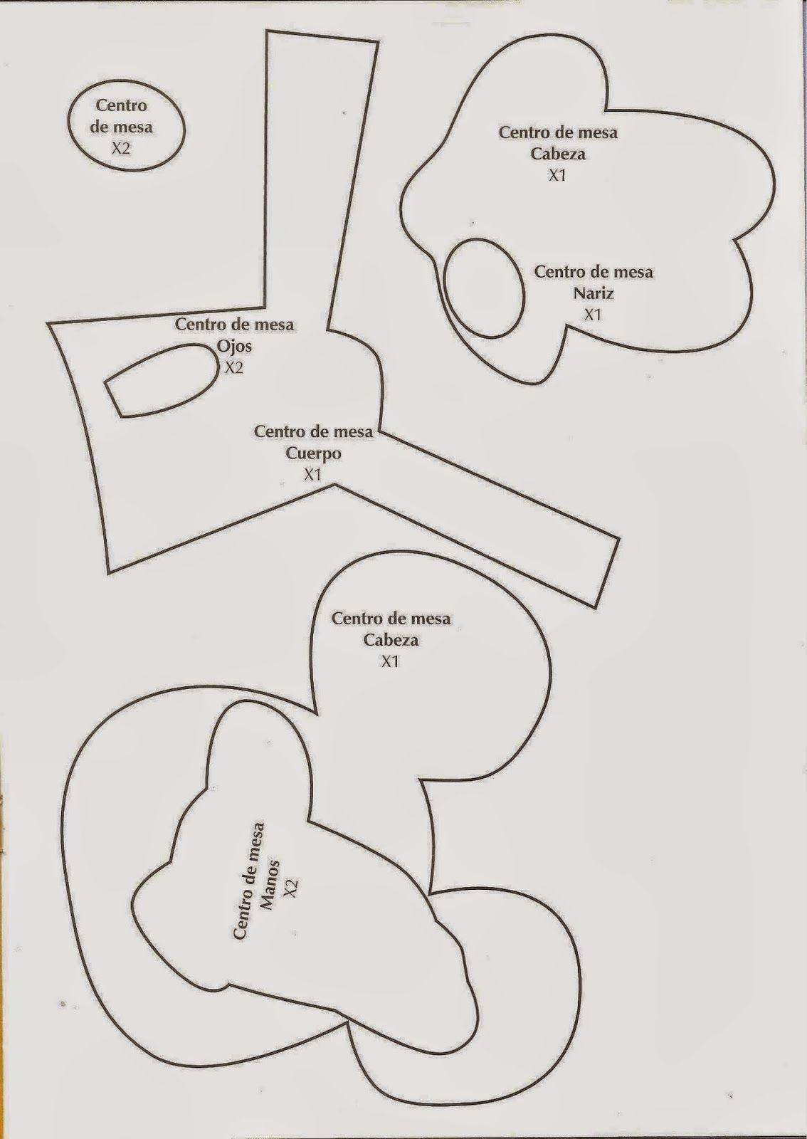 manualidades para fiestas mickey y minnie