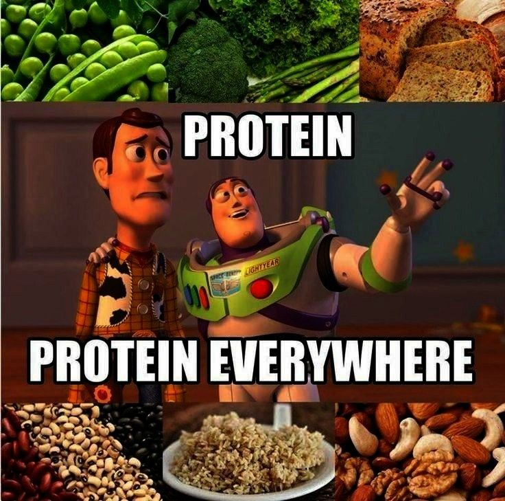But Buzz, where do you get your protein ...Woody: