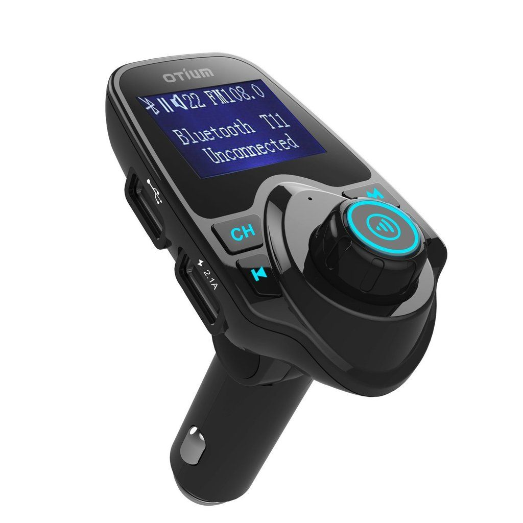 Bluetooth FM Transmitter - Play music, receive calls and charge your phone