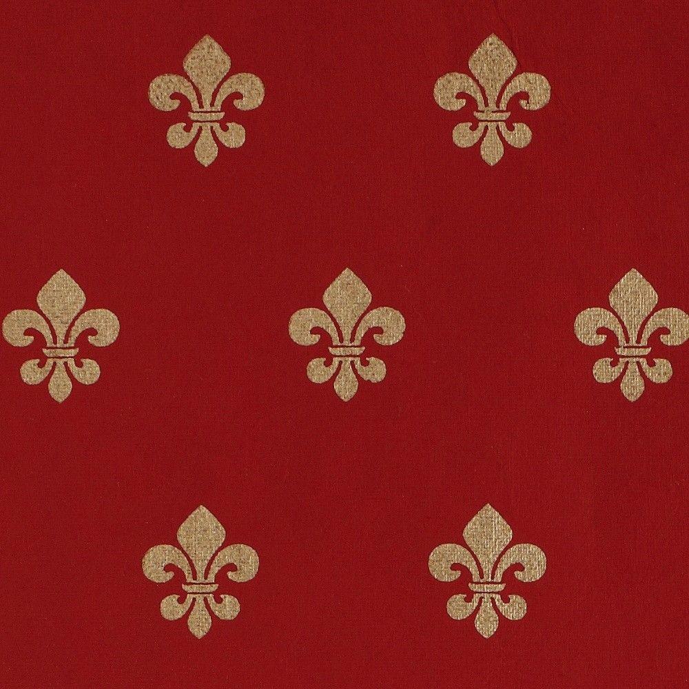 MIDORI Bridal Red Fleur de Lis Gift Wrap Inspiration
