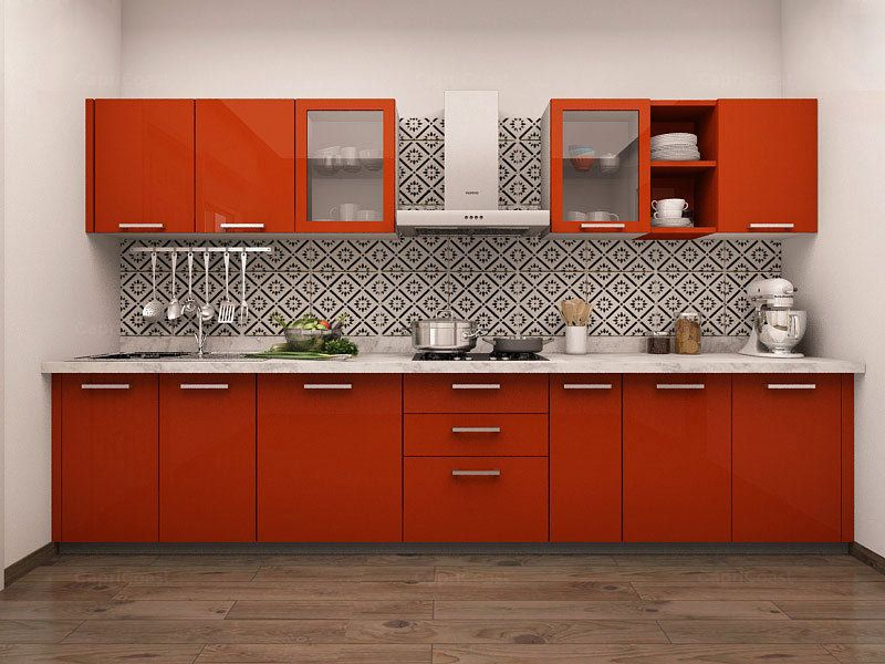 Get Wide Range Of Modern Kitchen Design At One Place That Suits Fair Straight Line Kitchen Designs Review