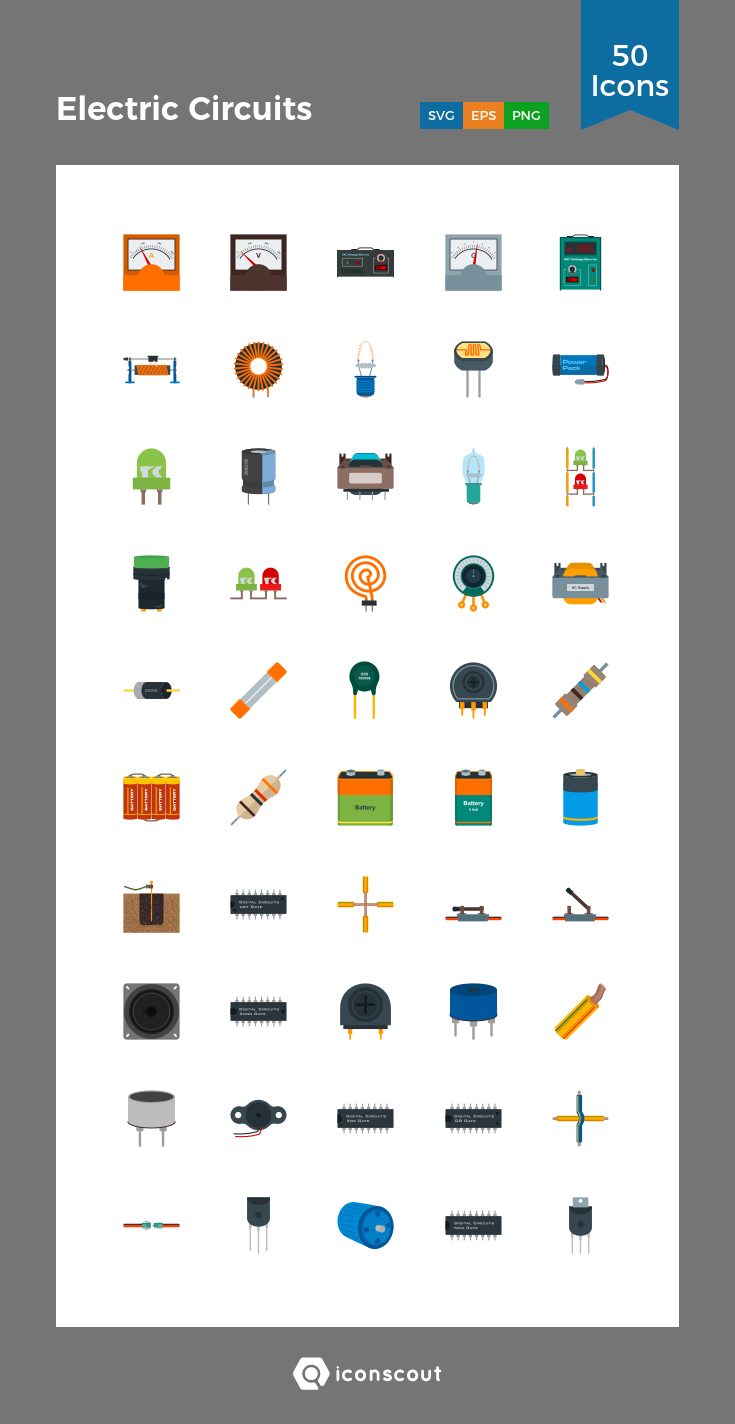 Download Electric Circuits Icon pack - Available in SVG ...