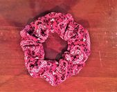 Red Bandana Print Srunchie Red Scrunchie Red Ponytail holder Red Hair Accessories Gift for Her 90s Hair Accessories Bandana hair ties #haargummis style #hairaccessories