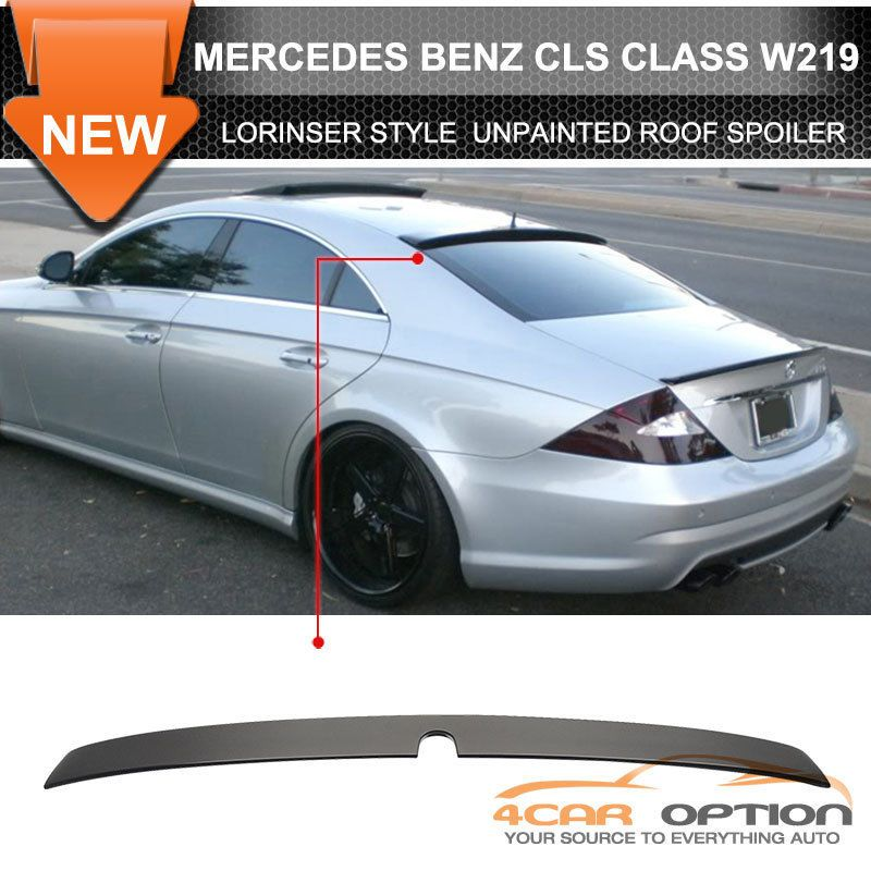 05 08 mercedes benz cls class w219 rear roof spoiler wing. Black Bedroom Furniture Sets. Home Design Ideas