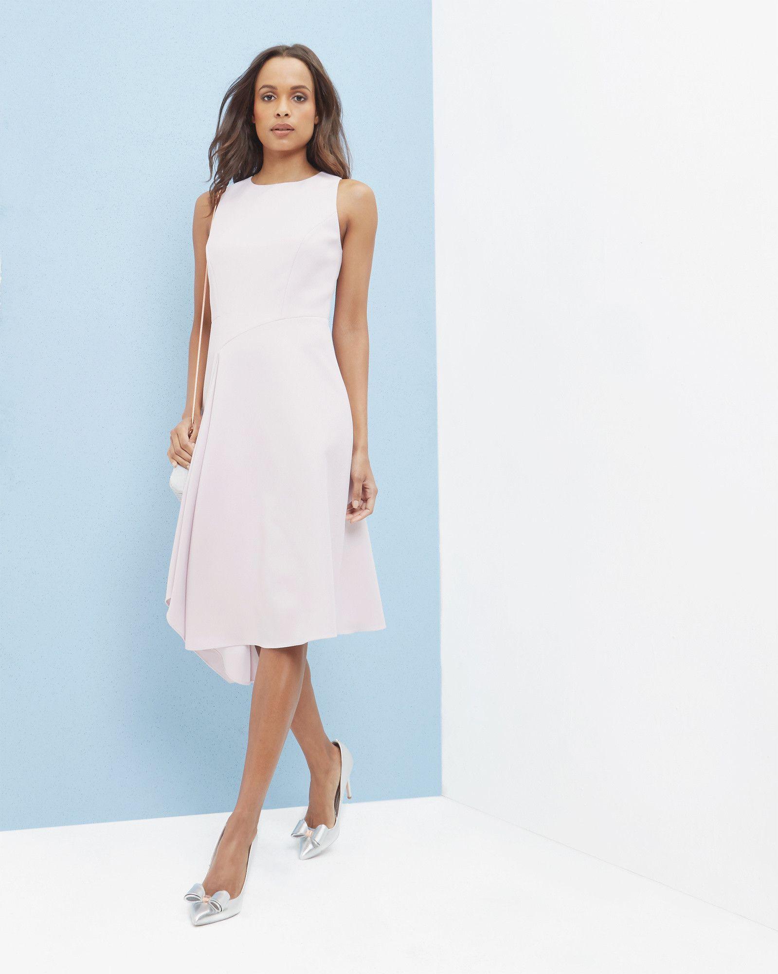 e42eeed75abb Draped asymmetric dress - Pale Purple